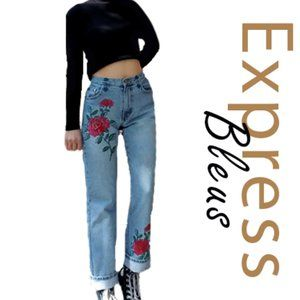 Vintage Express Embroidered Jeans